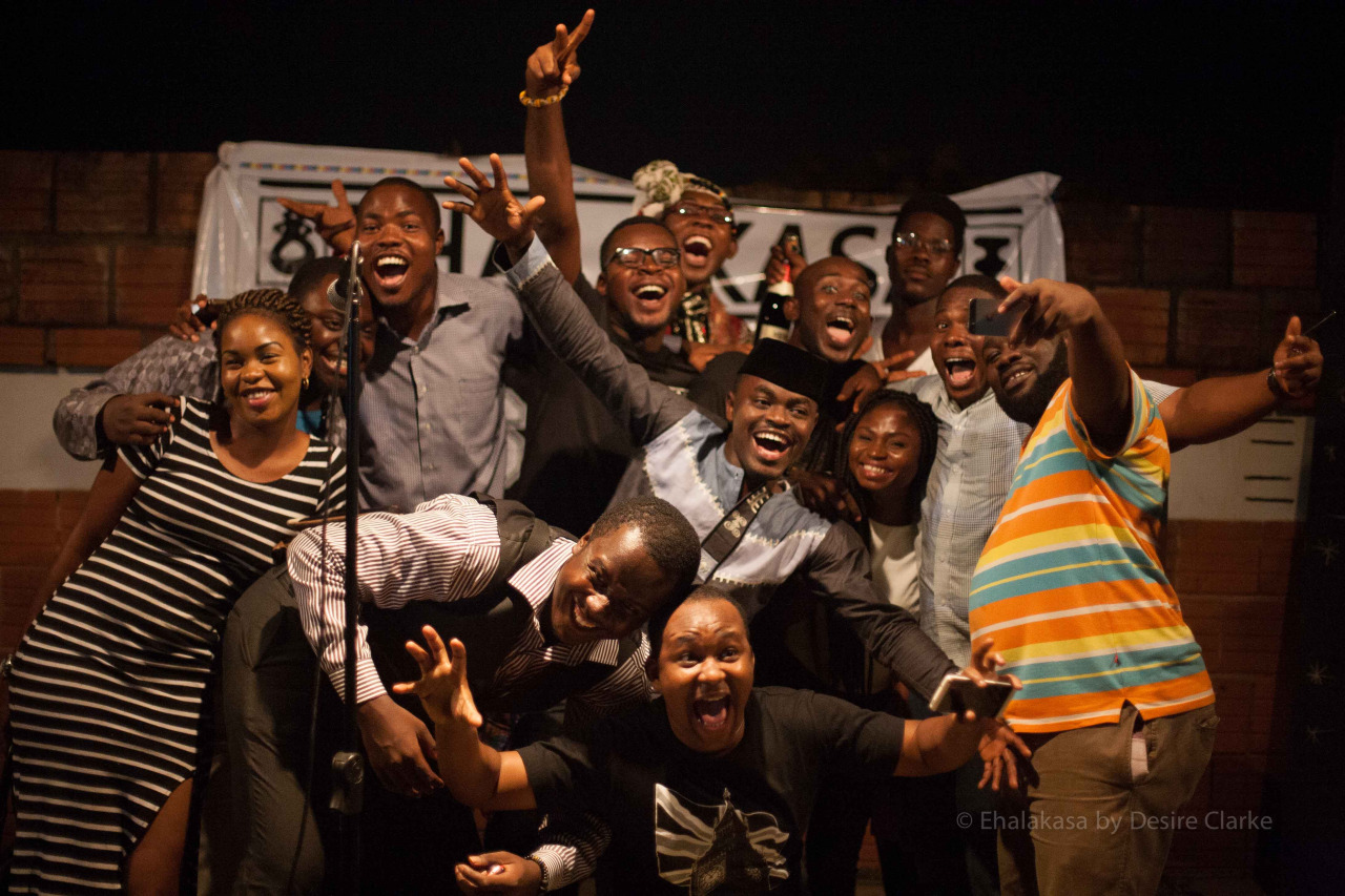 A group pic of slammers and audience at the Ehalakasa Slam 2014